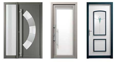 Puertas de entrada PVC aluminio