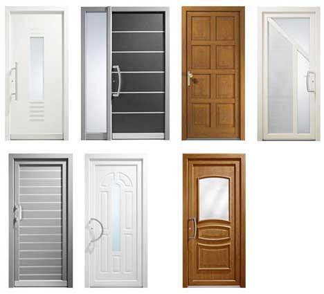 Puertas de entrada pvc con aislamiento t rmico ac stico y - Puertas de exterior de pvc ...