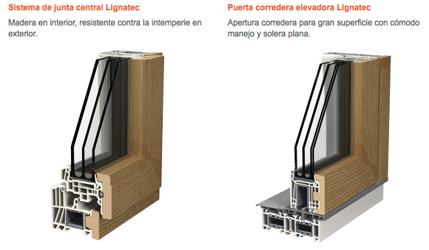 Ventanas de madera y pvc o madera y aluminio ventanas de for Ventanas pvc color madera