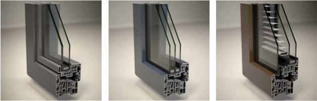 Vidrios de las ventanas de aluminio
