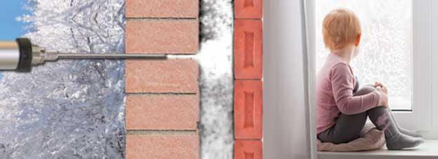 Aislamiento insuflado t rmico y ac stico sin obras bioaisla - Aislar paredes del frio ...