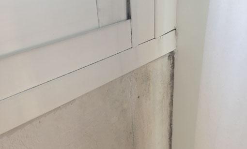 aisle su pared antes de pintar