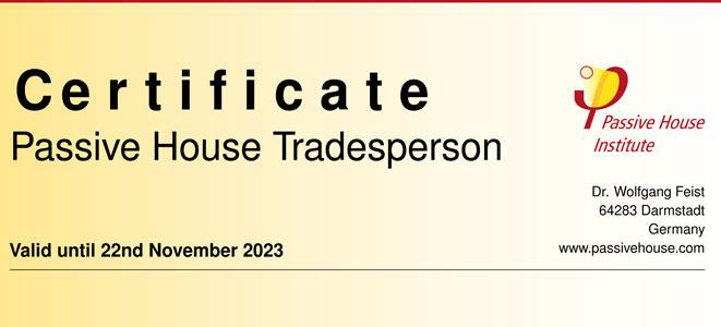 instaladores certificados passivhaus