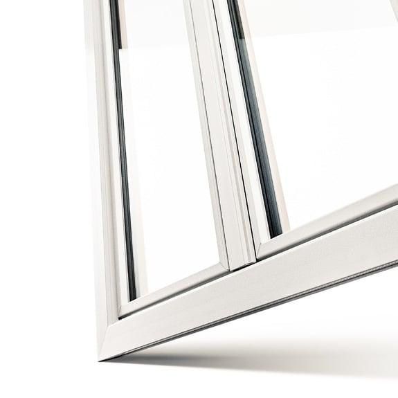 ventana pvc con perfiles estrechos