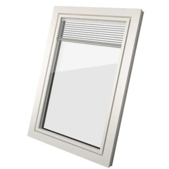 ventana de pvc con mallorquina