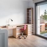 Amplio ventanal dormitorio casa pasiva